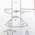 Schnittmuster für ein Kleid (Länge Knöchel) und/oder Tunika (Länge Knie)